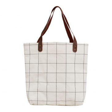 Tas/shopper, Squares, Wit