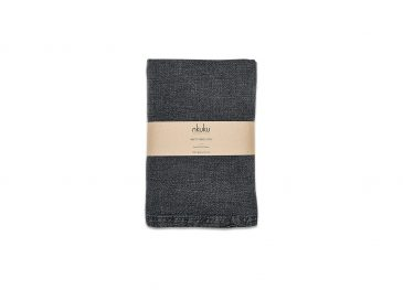 Abeto Table Cloth Washed Charcoal  Small