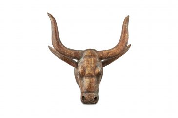Arba Wooden Cow Head Natural  Large