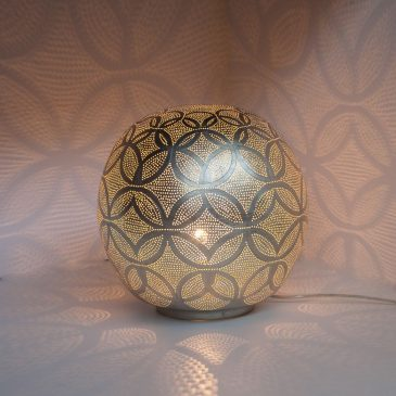 Table Lamp Ball Circles Medium Silver Diamete