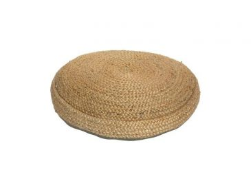 Braided Hemp Pouf (Includes Inner) Natural