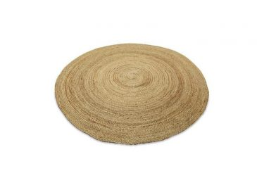 Braided Hemp Rug Natural  Large