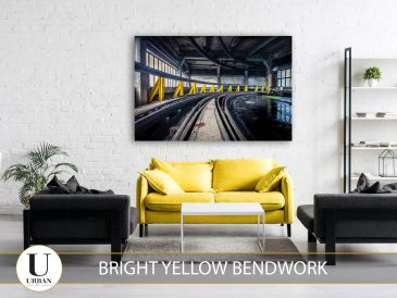 Bright yellow bendwork