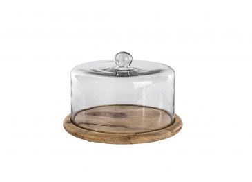 Recycled Glass Cake Dome Clear Glass