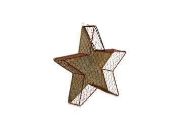 Chatari Mesh Star Aged Zinc  Small