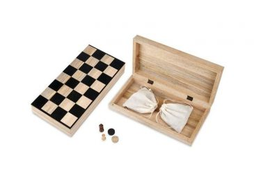 Mango Wood Chess & Draughts Mango Wood