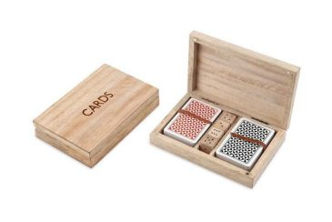 Mango Wood Card & Dice Set Mango Wood