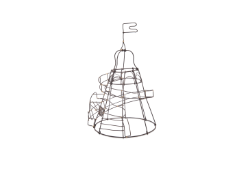 Decorative Wire Helter Skelter Rust  Small