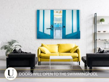 Doors will open to the swimmingpool
