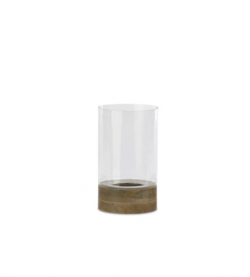 Idha Straight Hurricane Lantern Mango Wood &