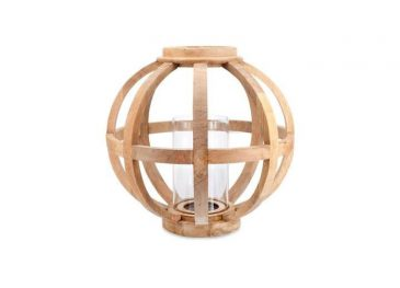 Kabu Wooden Lantern Mango Wood  Large