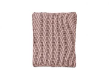 Moss Stitch Cotton Throw Dusky Pink
