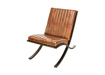 Narwana Ribbed Leather Lounger Aged Leather &