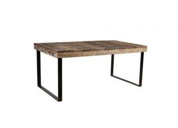 Oso Wooden Dining Table Reclaimed Wood & Iron