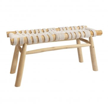 Macrame Bench Cross - Natural