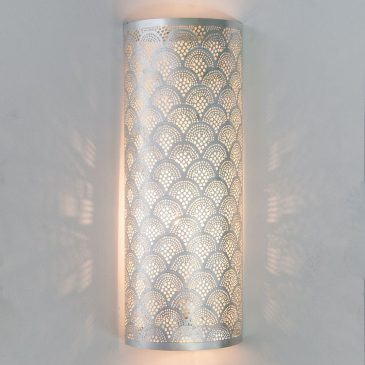Wall Lamp Cylinder Fan Large Silver,