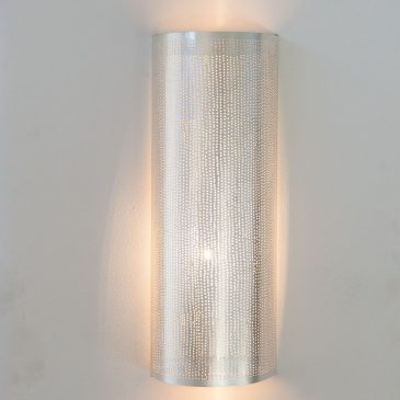 Wall Lamp Cylinder Filisky Large Silver,
