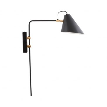 Wall lamp, Club, black/white