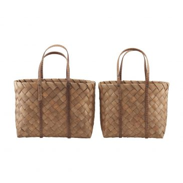 Bag, Beach, Brown, Set of 2 sizes