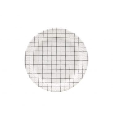 Paper Plate - Chequered