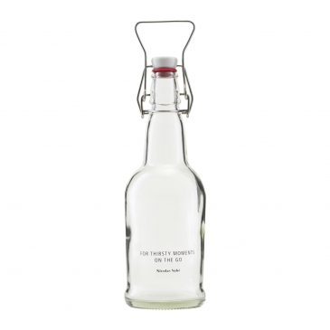 Bottle with patent plug, Clear